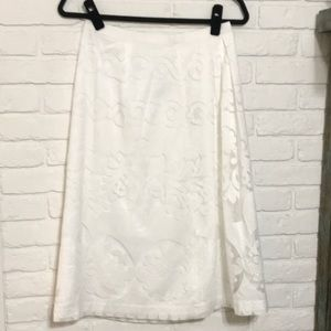 White Lace J. Crew Skirt
